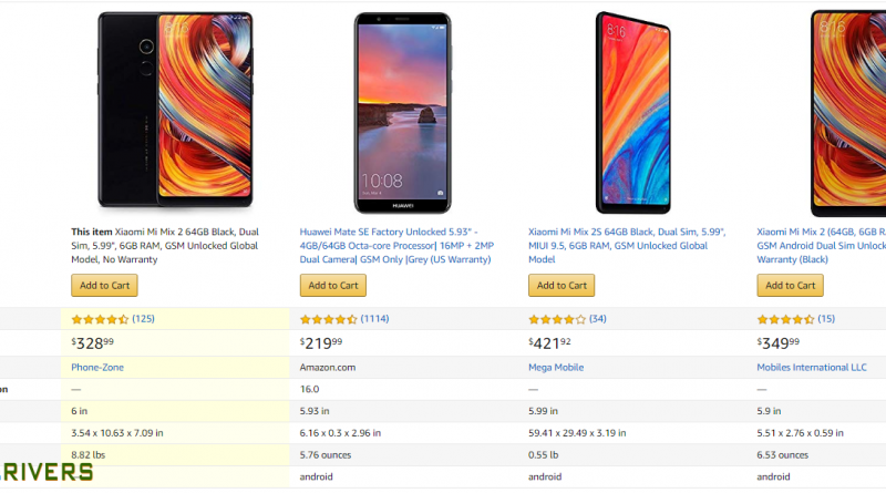 xiaomi mi mix 2 and compare with similar items