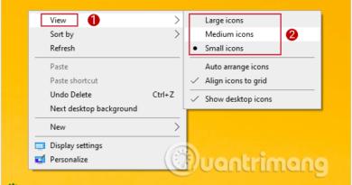 Mặc định của Windows 10 sẽ là Medium icons